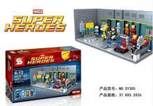 SY305 Super Heroes Iron Man Armor Weapons Base Station Minifigure Bricks Blocks Toys Action Figure Gift(China (Mainland))