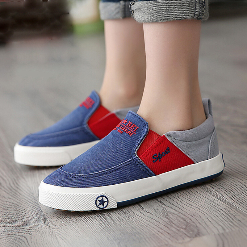 2015 Brand Designer Children Shoes Boys Shoes Breathable Loafers Boys New Style Canvas Shoes ...