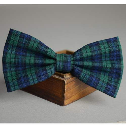Preppy style plaid bow ,mens casual tie,green necktie,plaid butterfly,fashion tie - by sunny store