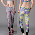 HimanJie new Stytle European and American Hot Selling Elastic Wicking Force Exercise Tight Female Print Yoga
