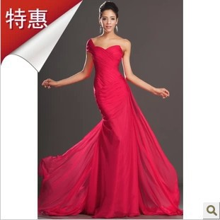 2014 elegant design red chiffon long formal dress slim for Simple elegant wedding dress designers