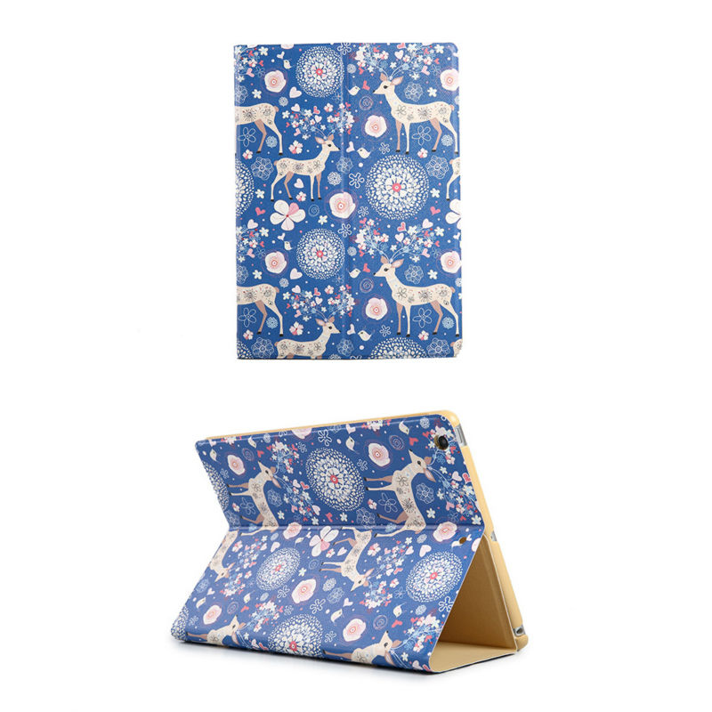 Painted Case for IPAD 2/3/4 Use Smart Wake/Sleep Cover Flip Shell Case with Magnetic Strip for IPAD 2/3/4 Colohas.(China (Mainland))