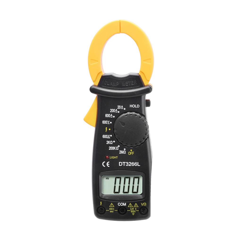 DT3266L Mini Pocket Handheld Digital Clamp Meter AC/DC Voltage Current Resistance Tester Multimetro with Test Leads Multimeter(China (Mainland))