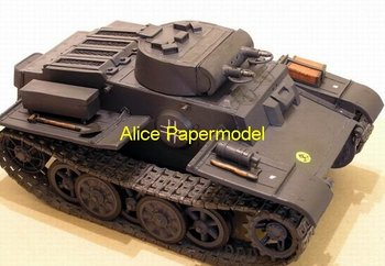 [Alice papermodel] 1:25 18 16 German toy papercraft tank PzKpfw.I Ausf.F army car armed vehicle models