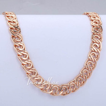 7MM Wide Womens Mens Chain Unisex Boys Girls Snail Link Rose Gold Filled Necklace Chain Fashion