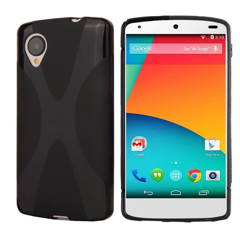 Matte Soft TPU Gel XLine Google LG Nexus 5 D820 E980 Phone Fundas Coque Rubber Silicone X Shape Skidproof Protective Cover - Shenzhen 3C High-Tech Store store