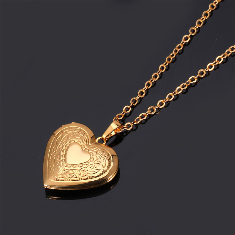 18K Real Gold/Platinum Plated heart Necklace Women Jewelry Free Shipping heart Locket necklace Pendants Valentine gift P570(China (Mainland))