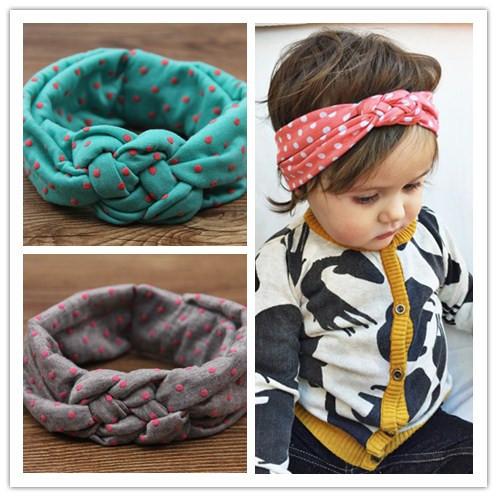 Новорожденных девочек точка плетеный топ узел витая тюрбан повязка на голову упругой ...