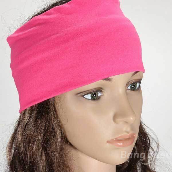 BuyMee Cheap Women Multicolor Elastic Hair Bands Turban Stretch Wide Yoga Headband(China (Mainland))