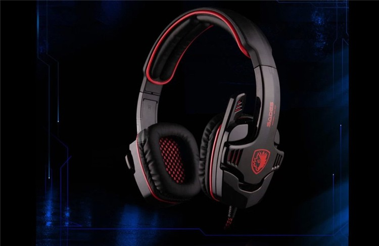 Brand Sades SA-901 Gaming Headset 7.1 Surround Sound Headphones with Mic Remote Control USB Stereo Bass Earphone for PC Gamer