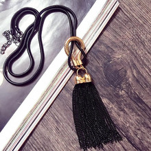 Buy 2016 New Arrival Women Pendant Necklaces Exquisite All-match Chain Tassel Sweater Long Chain Necklace Accessories. for $3.95 in AliExpress store