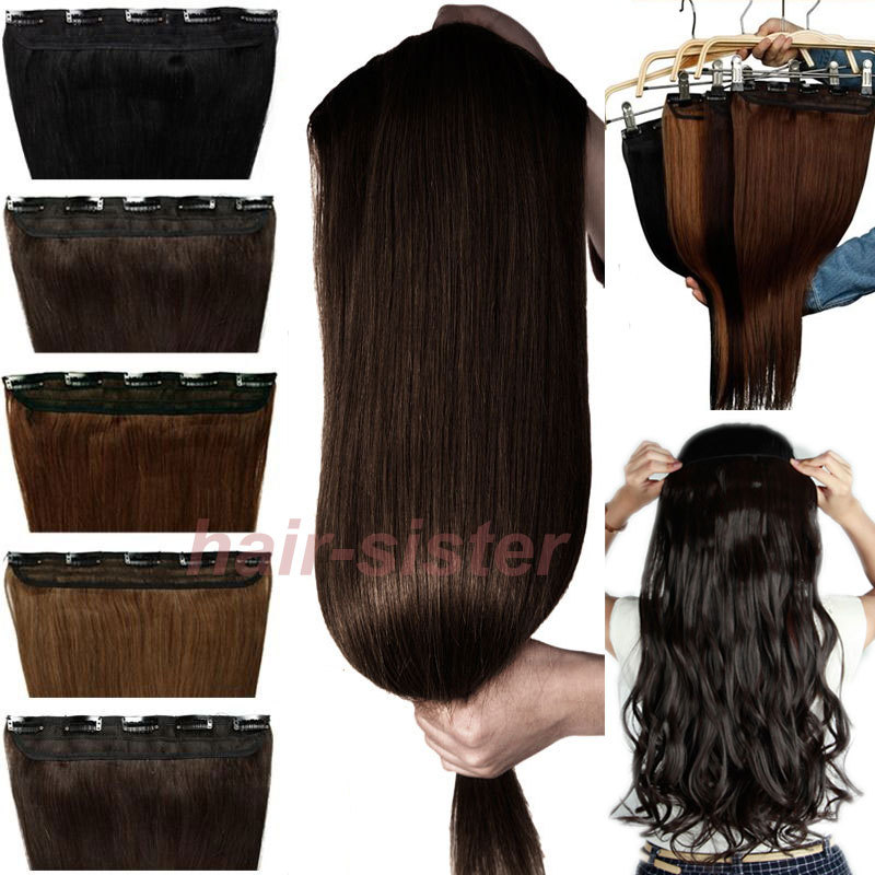 "26"" 66 CM Straight Clip in Hair Extensions One Piece 5Clips(China (Mainland))"