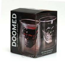 1pc Doomed Skull Glass Wine mug Beer Glasses Shot Crystal Skull Head Vodka Shot Wine Novelty Cup Cheap Horror Toy for Christmas(China (Mainland))