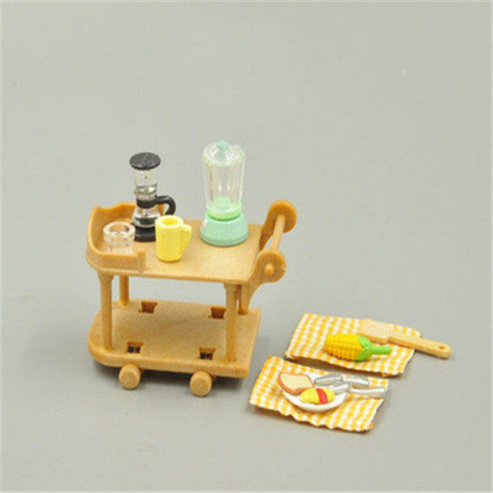 Rement Sylvanian Families Kids Play Kitchen Set Japanese Miniature Food Toy Cooking Set Cookware For Kitchen Cosplay Sushi 8029(China (Mainland))
