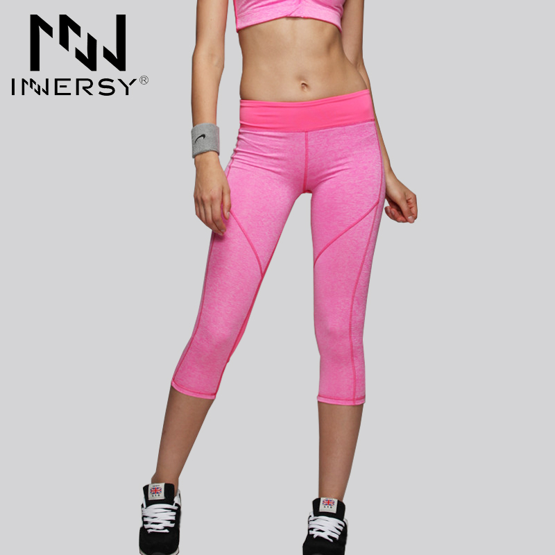 Innersy Women Yoga Pants Sport Fitness Tights Slim Leggings Running Sportswear Quick Drying Sport leggings for Woman Jzh04(China (Mainland))