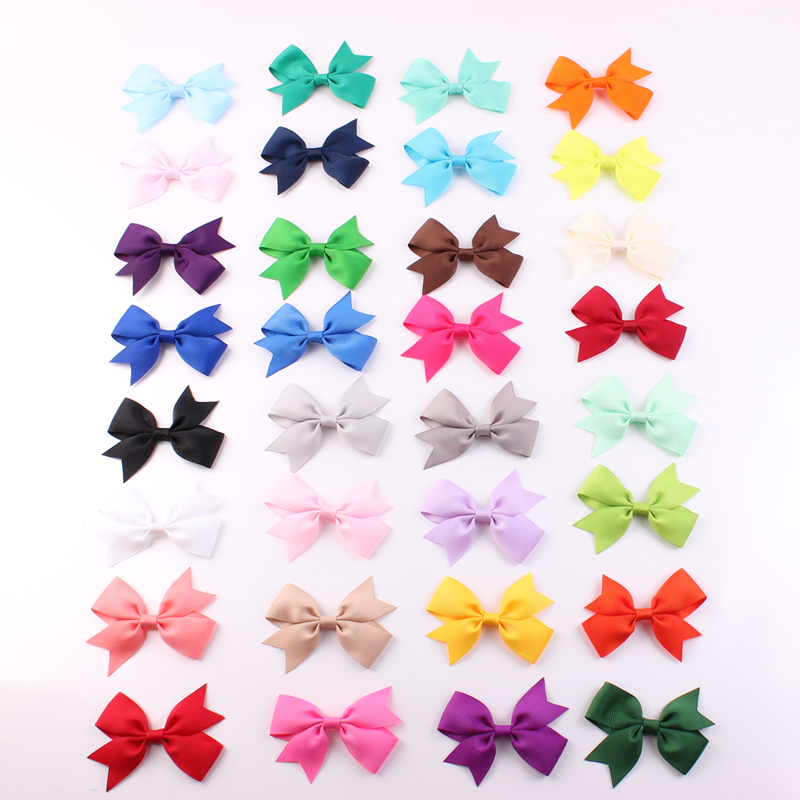 Baby Grosgrain Ribbon Hair Bows WITH Clip Girls' Boutique PinWheel HairBows Kids Hair Clip Hair Accessories 32pcs/lot(China (Mainland))