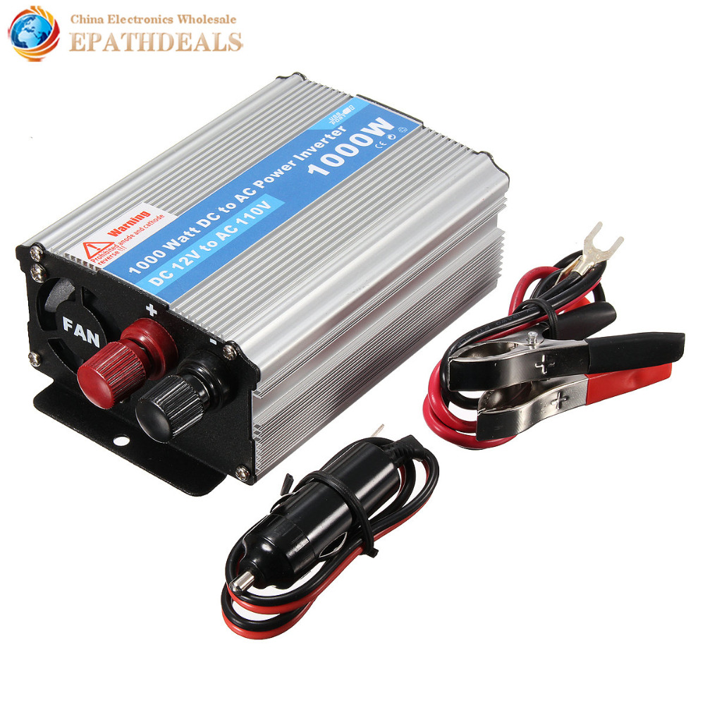 Car DC 12V to AC 220V 1000W Power Inverter Charger Converter for Electronic L(China (Mainland))