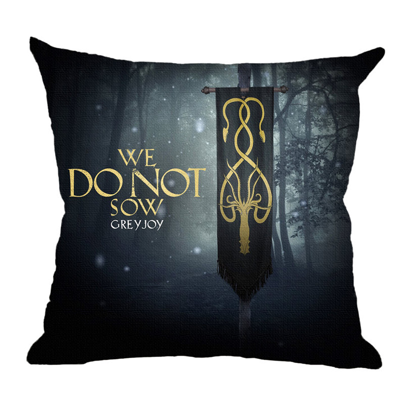 game of thrones print car seat cushion covers nine families 45 45cm free shipping worldwide. Black Bedroom Furniture Sets. Home Design Ideas