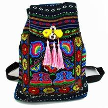 Tribal Vintage Hmong Thai Indian Ethnic Boho rucksack Boho hippie ethnic bag, backpack bag L size SYS-170B(China (Mainland))
