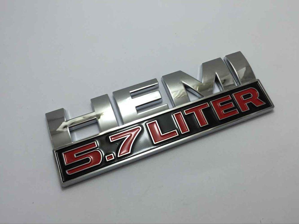 2013 HEMI 5.7 LITER Car Side Wing Auto Badge HEMI 5.7 LITER Auto Fender CHROME Sticker for Car Challenger Car Emblem 25(China (Mainland))