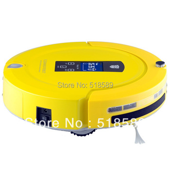 Robot Vaccum Cleaner Multifunctional Auto Sweep,Mop,Sterilize,LCD Touch Screen,Schedule,2-Way Virtual Wall Auto Charge