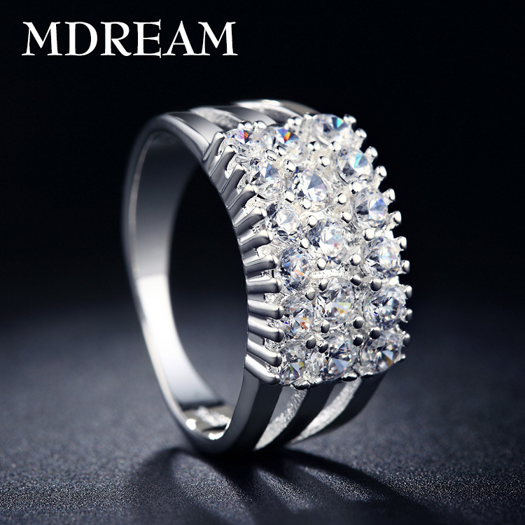 Platinum Plated ring with 30% silver and bar setting Austrian Crystal for party classic rings for women jewelry wholesale LSR019(China (Mainland))