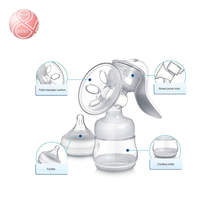 New PP Manual Baby Breast Feeding Vacuum Pump Breast milk suckers +125ml Feeding Bottle Baby Nipple Suction FDA test BPA FREE