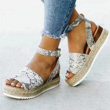 Sandales femmes Chaussures à semelles compensées escarpins talons hauts sandales été 2019 Flop Chaussures Femme plate-forme sandales Sandalia Feminina(China)