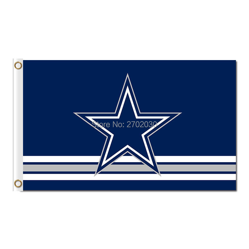 Polyester Dallas Cowboys Flags Blue Star Jersey Football Flag World Series 2016 3ft X 5ft Premium Team Banner Dallas Cowboys(China (Mainland))