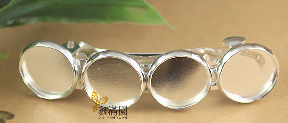 (20 pieces/lot) to fit 12mm cabochon silver/antique bronze hair clip blank bezel setting qy418(China (Mainland))