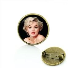 2017 Monili Dell'annata fiaba bella e la bestia fumetto moda spilla movie star Marilyn Monroe donne degli uomini badge pins C441(China)