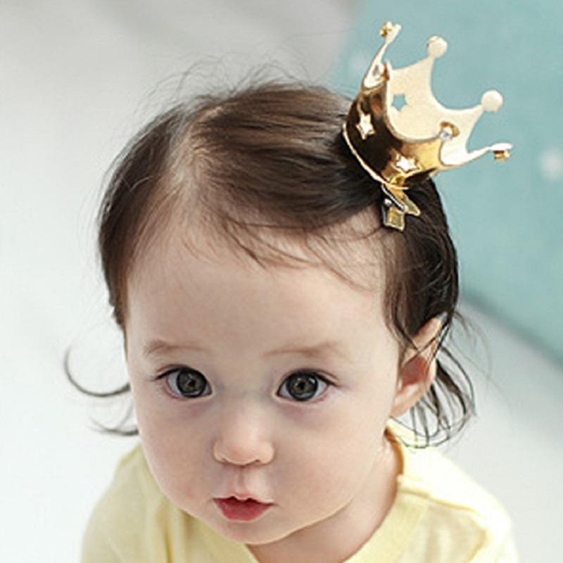 1PC Fashion Kids Hollow Stars Princess Crown Hairpins Hair Accessories Girls Tiaras Headwear Baby Hair Clip Headdress(China (Mainland))