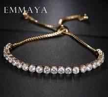 Emmaya Klasik Kristal Beads Persahabatan Gelang Putih Zircon Gelang Adjustable untuk Wanita Beaded Murah Gelang(China)