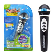 Black  Simulation Microphone For Children Modern Microphone Mic Karaoke Singing Kid Girls Boys Funny Toys Gift Music Toy (China (Mainland))