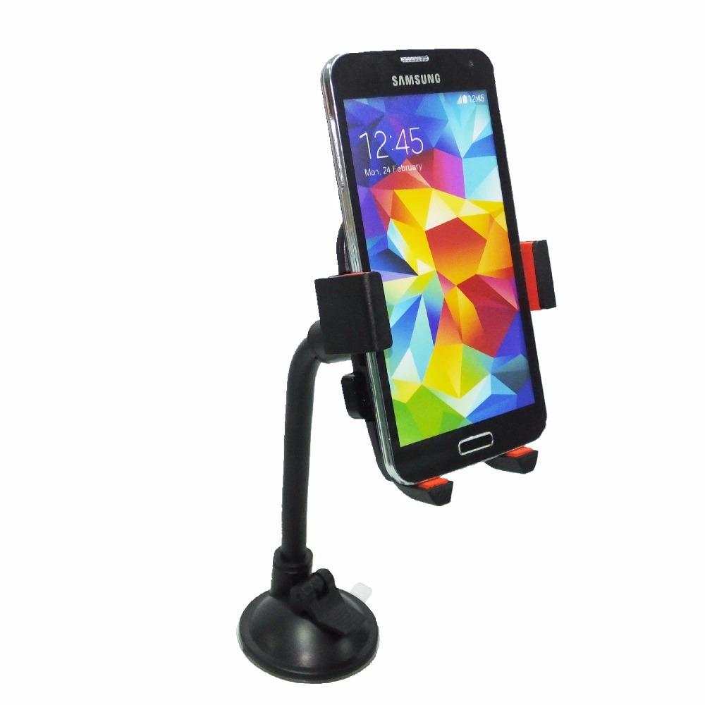 360 Degree Rotation Automatically Locks Hose Gooseneck Car Phone Holder Bracket For Samsung Galaxy s7 /Edge iphone 6s plus(China (Mainland))