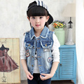 Fashion Girls Denim Vests Jean Jackets For Girls 2 8T Children s Vest Baby Girls Jean