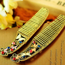 Vintage Women's Hair Comb Brand New Retro Butterfly Dragonfly Combs Fashion Alloy Crystal Flower Combs For Women(China (Mainland))