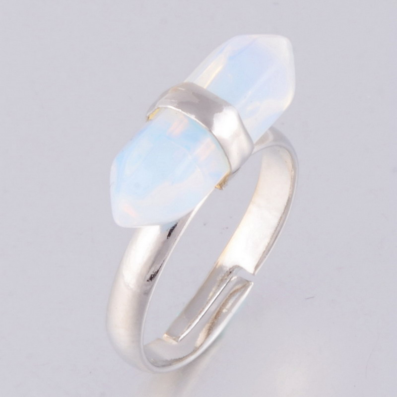 Aliexpress Buy 2015 Hot Sell Crytal Quartz Gems Opal Natural Stone Ring