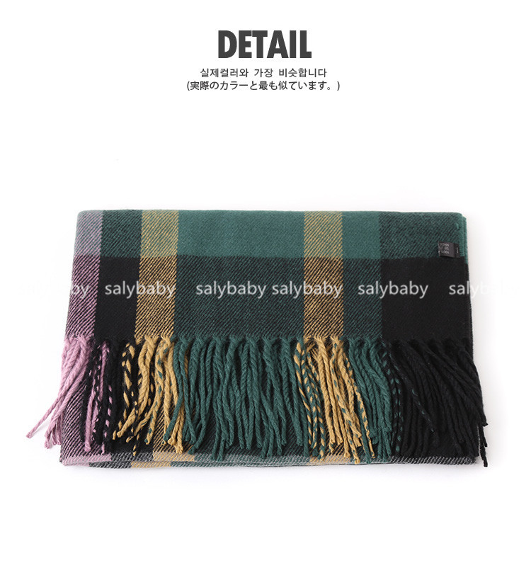 16 New Autumn And Winter Warm Female Plaid Scarf Shawl Thickened Large British Style Aliexpress