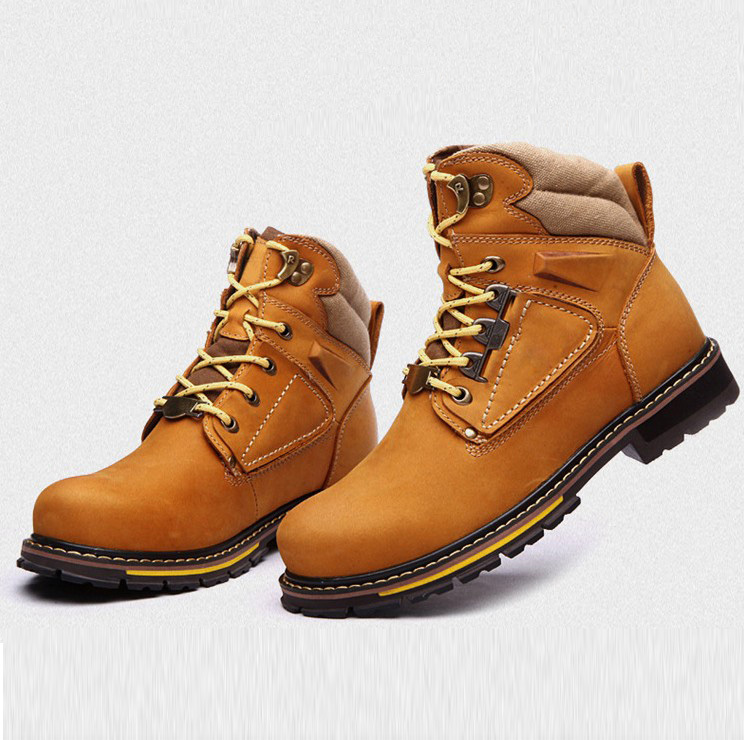 New 2013 Men's Plus Big Size Genuine Leather Martin Boots,Mens Winter Warm Boots,High Quality Cool Boots,2 styles eur size 38~47