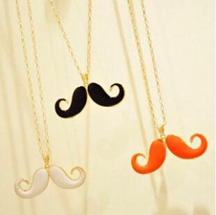XL0062 Fashion jewelry longnecklace wholsale cheap pendants women south korea jewelry mustache accesssories gift necklace(China (Mainland))