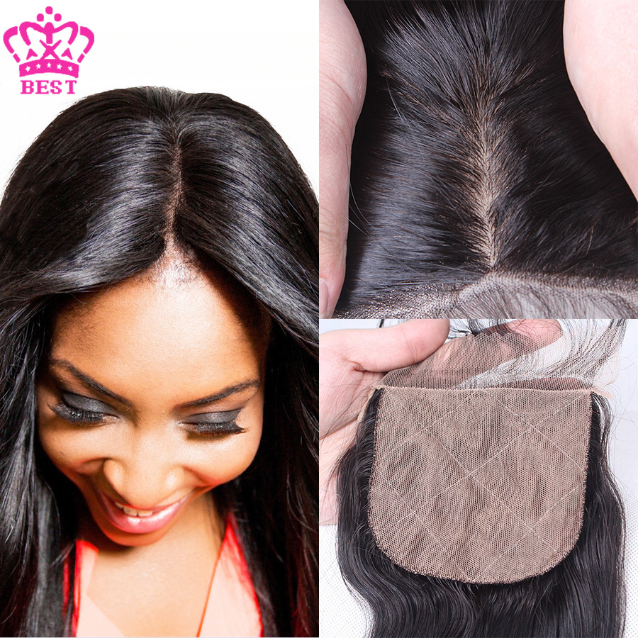 Where to buy hair closures - 6a Virgin Brazilian Body Wave Silk Base Closure Free 3 Part Cheap Silk Base
