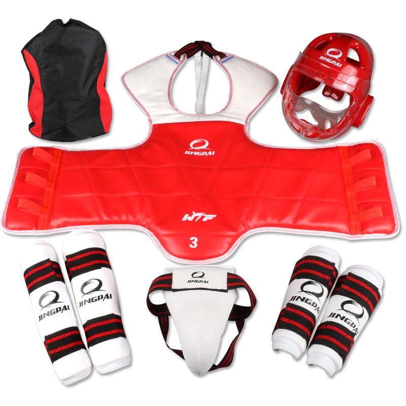 Фотография full set protective product WTF Approve goods MMA Taekwondo Karate Muay Thai Sanda sport protective equipment send bag free
