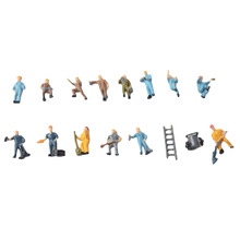 Free shipping HO scale Painted Building Layout Model Train Workers Figures Workman Perfect for Layout and Landscape Models