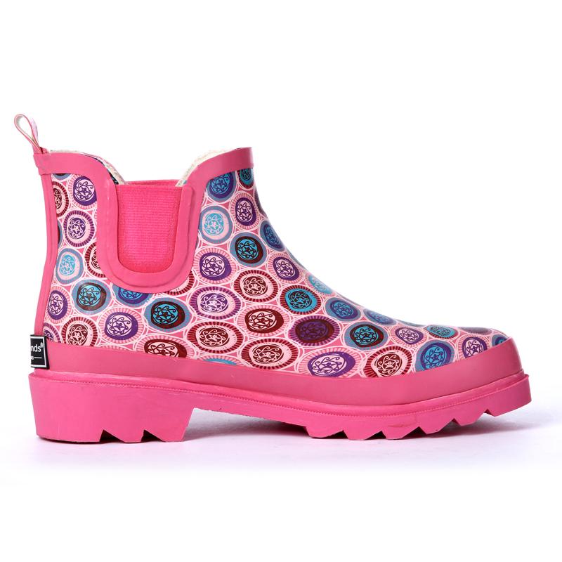 fashion woman rain boots rubber shoes womens short waterproof shoes warmming cotton design<br><br>Aliexpress