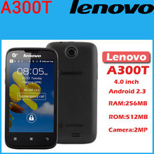 Original Lenovo A300T 4 inch TFT Dual SIM phone Android 2.3 WIFI 2.0MP camera Rom 512MB
