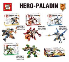 Funny nexus Hero Paladim knights 3in1 mech DIY building block Aaron Macy Axl Clay Lance minifigures compatible lego toys - kissbabytoys store