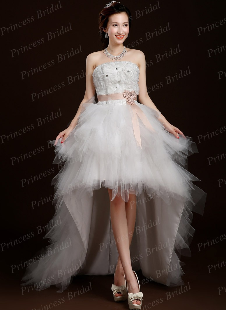 buy romantic wholesale asymmetrical wedding gown