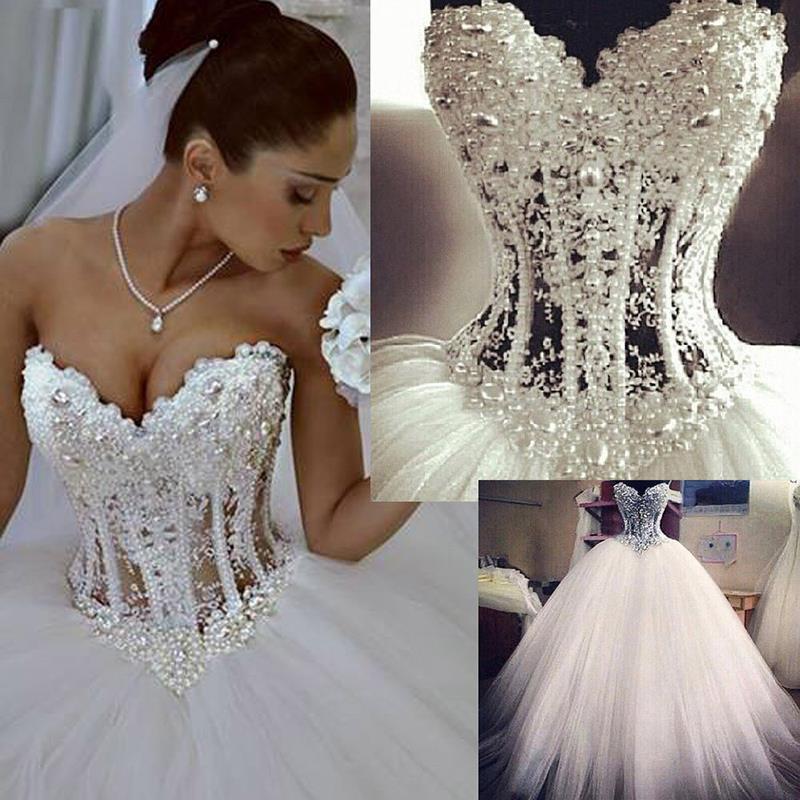 Strapless Sweetheart Corset Wedding Dress