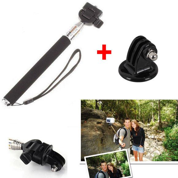 2 Sets Gopro Accessories Handheld Aluminum Alloy Flexible Carmera Tripod Holder for Phone GoPro HD Hero1 2 3 SJ4000(China (Mainland))